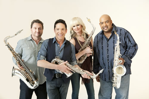 Koz and Friends (l to r): Richard Elliot, Dave Koz, Mindi Abair, Gerald Albright
