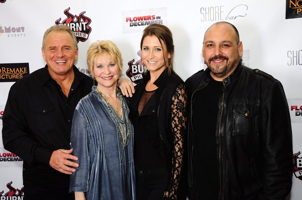 Flowers in December Cast (l to r: Robert Craighead, Dee Wallace, Gabrielle Stone, and JB Blan)