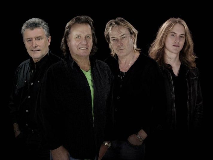 Asia (l to r: Carl Palmer, John Wetton, Geoff Downes, Sam Coulson
